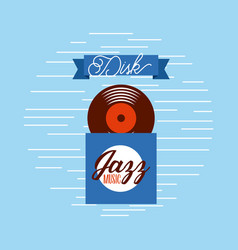 disk music jazz sound classic culture vector image