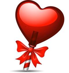 Heart lollipop vector image vector image