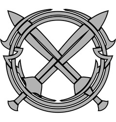 pattern and crossed swords vector image vector image