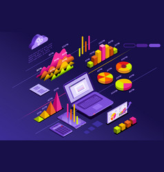 perfect statistics presentation vector image vector image