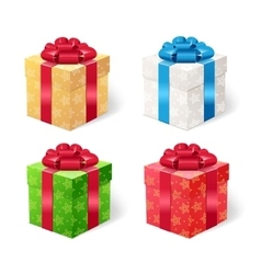 Present Box Set vector image