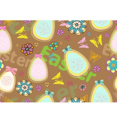 seamless floral Easter background vector image vector image