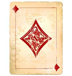 Ace of diamonds vector image