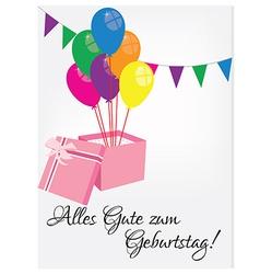 Birthday postcard with happy birthday vector image vector image