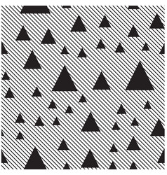 black triangle diagonal lines pattern background v vector image