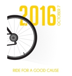 Cycling race poster design ride for a good cause vector