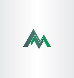 letter m green mountain and letter z or n vector image vector image