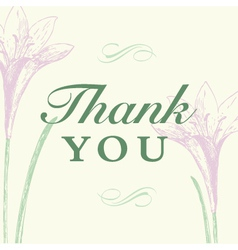thanks you vector image vector image