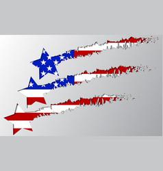 usa flag under star break vector image