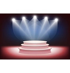 3d of Photorealistic Podium Stage with Blue Stage vector