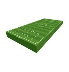 3d soccer football field vector