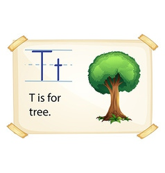 A letter t for tree vector