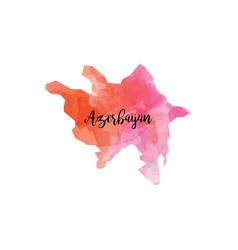 Abstract azerbayan map vector