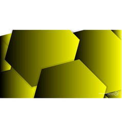 abstract background hexagon yellow light and vector image