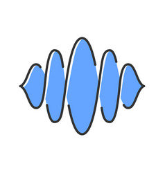 Abstract soundwave color icon sound audio wave vector