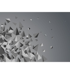 Abstract triangles space vector image