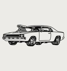 american retro muscle car concept vector image