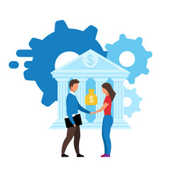 Banking offer flat customer focused product vector