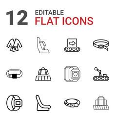 Belt icons vector