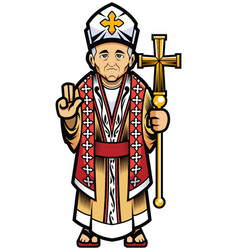 bishop on white vector image
