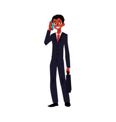 Black african american businessman standing vector