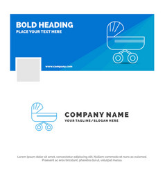 blue business logo template for trolly baby kids vector image