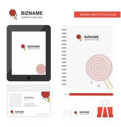 candy business logo tab app diary pvc employee vector image