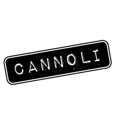Cannoli rubber stamp vector