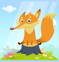 Cartoon fox character vector