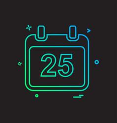 Christmas 25th december calendar icon design vector