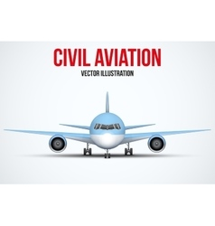 Civil Aircraft standing on the chassis vector image