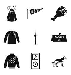 Clothing icon set simple style vector
