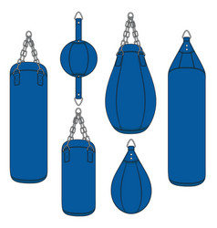 Color with a blue punching bag vector