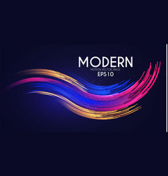 colorful motion striped effect with light vector image