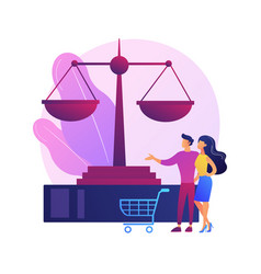 consumer law abstract concept vector image