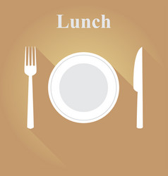 cutlery in a flat vector image