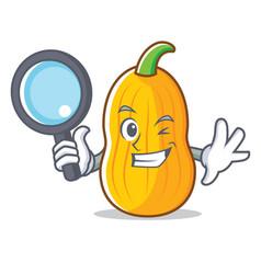 Detective butternut squash character cartoon vector