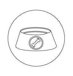 dog bowl icon design vector image