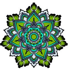 drawing of a floral mandala vector image