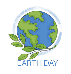 earth day planet ecological problem vector image
