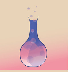 Erlenmeyer flask with chemical vector