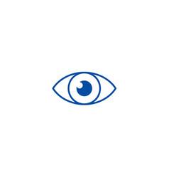 eye sign line icon concept eye sign flat vector image