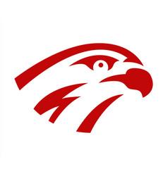 falcon or hawk head sport logo mascot design vector image