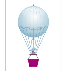 Flying balloon isolated icon vector