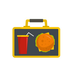food for lunch icon flat style vector image