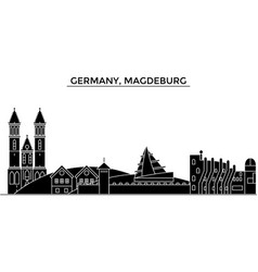 Germany magdeburg architecture city vector