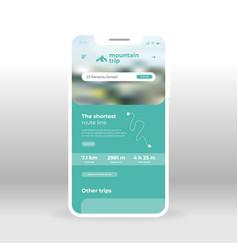 Green mountain tours ui ux gui screen for mobile vector