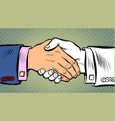 handshake deal business agreement vector image