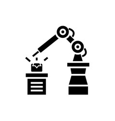 Industrial automation icon vector