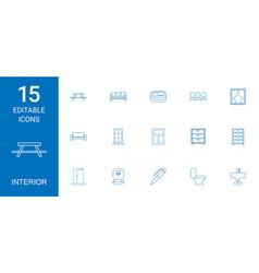 Interior icons vector